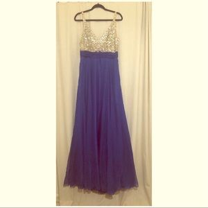 Dresses & Skirts - Royal blue ball gown with sequin top
